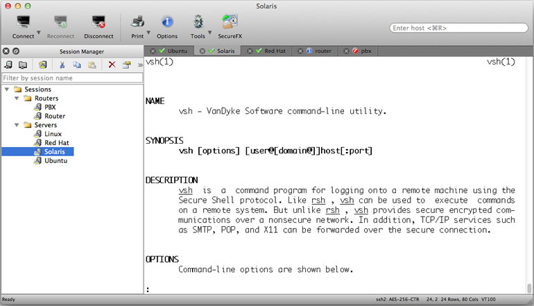 SecureCRT for Mac OS X - Rock-solid terminal emulator for