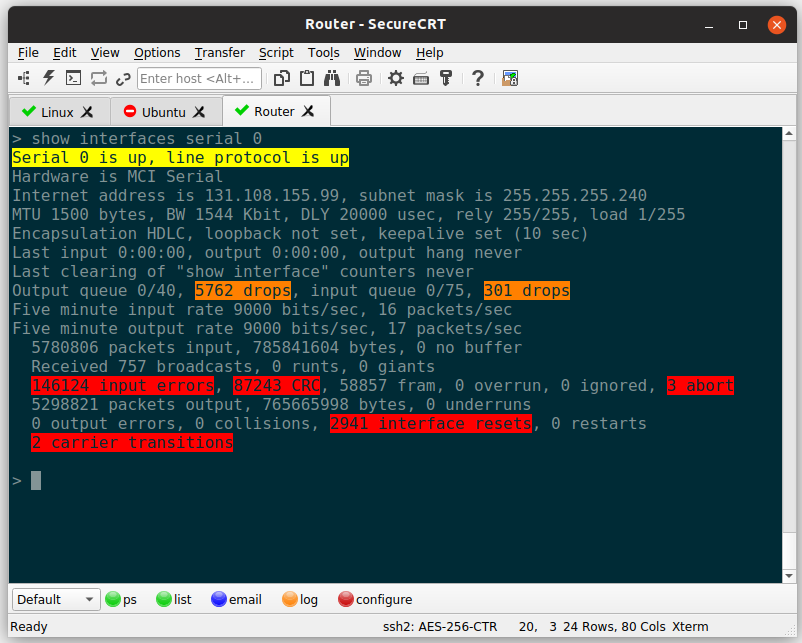 SecureCRT for Linux full screenshot
