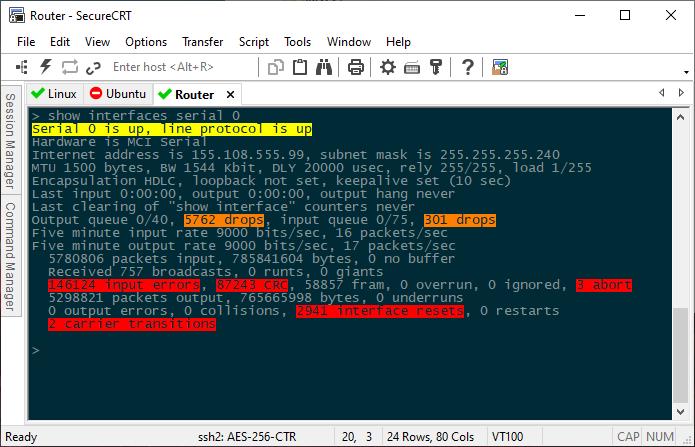 SecureCRT full screenshot