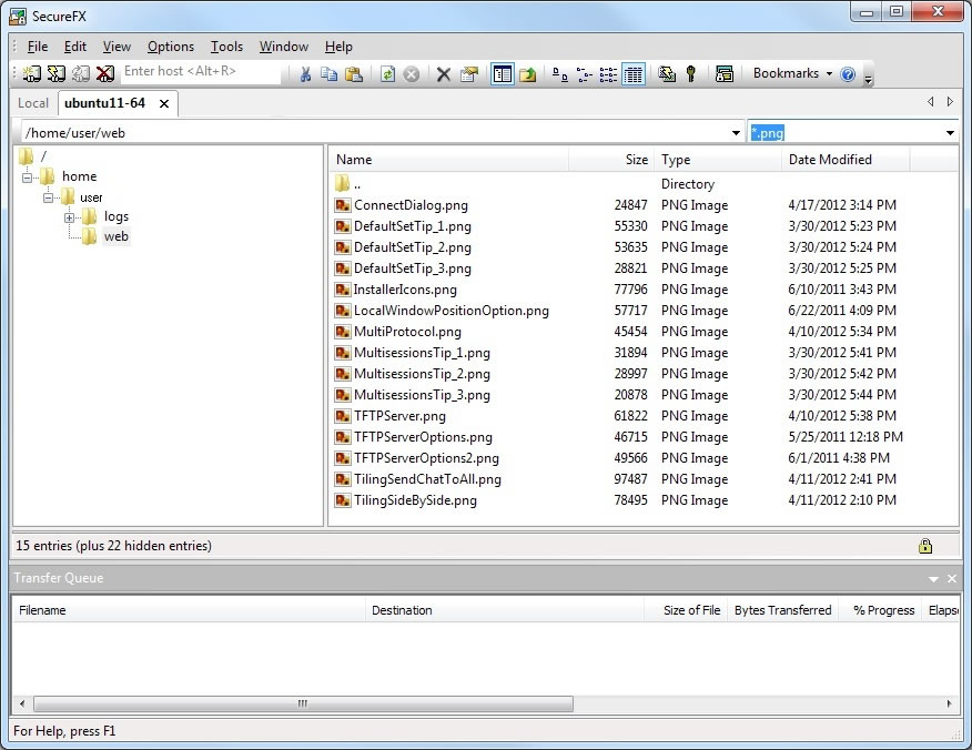 Secure file transfer client with advanced automation and configuration options. reliable Screen Shot