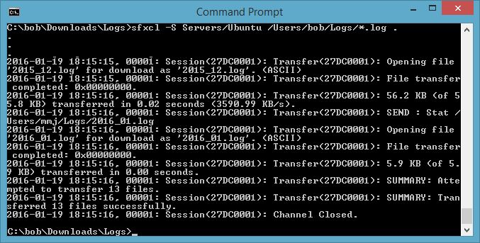 Sfxcl.exe command line options