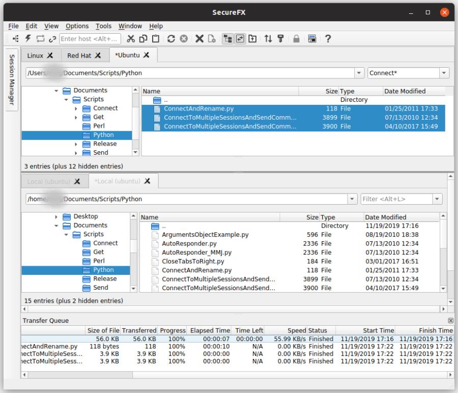 SecureFX for Linux Screenshot
