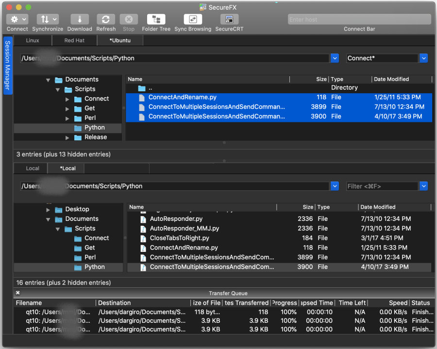 SecureFX for Mac full screenshot