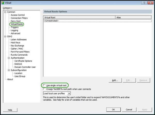 Tips - VShell® - Configuring VShell as an SFTP backup server