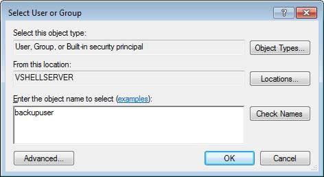 Tips - VShell® - Configuring VShell as an SFTP backup server for